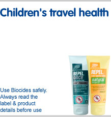Children's travel health