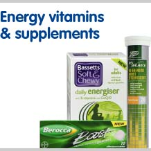 Energy vitamins and supplements
