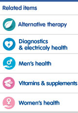 Alternative therapy. Diagnostics and electrical health. Men's health. Vitamins and supplements. Women's Health