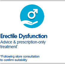 Erectile Dysfunction advice and prescription only treatment