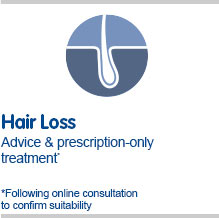 Hair loss clinic for advice and prescription only treatment