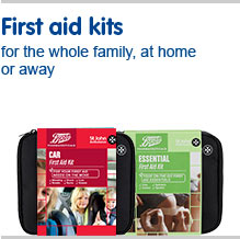 First aid kits for the whole family at home or away