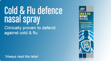 Cold and flu defence nasal spray