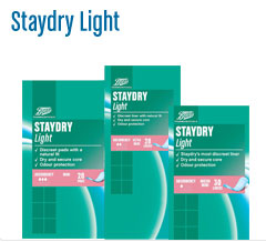 Boots staydry light incontinence products