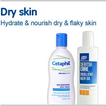 Dry skin. Hydrate and nourish dry and flaky skin