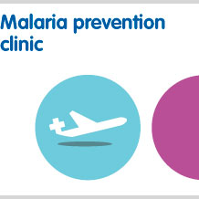 Malaria prevention clinic for prescription only treatments without a visit to a doctor