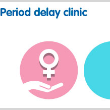 Period delay clinic for prescription only treatment without visiting a doctor