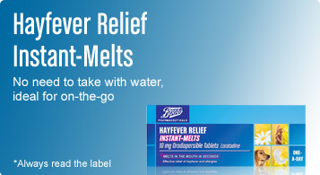 hayfever relief instant melts