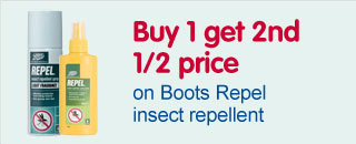 buy 1 get 2nd half price boots repel and insect repellent