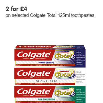Colgate Total 125ml 2 for £4