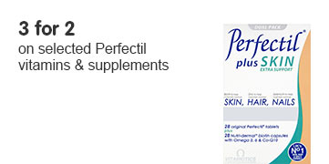 Three for two on selected Perfectil vitamins and suppliments