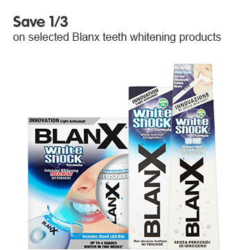 Save 1/3 on selected BlanX teeth whitening products