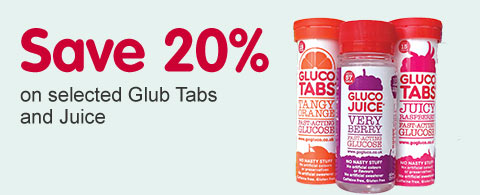 Save 20% on selected GlucoTabs and Juice