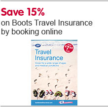 Save 15% on Travel Insurance by booking online