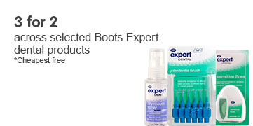 3 for 2 across selected Boots Expert dental products