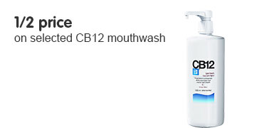 1/2 price on selected CB12 Mouthwash