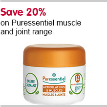 Save 20% on Puressentiels muslces and joints range