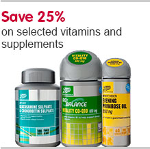 Save 25% on selected Vits & Supplements