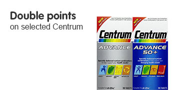 Double points on selected Centrum