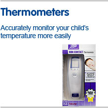 Thermometers accurately monitor your childs temperature more easily