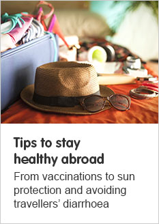 Tips to stay healthy abroad