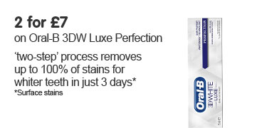 2 for £7 on Oral-B 3DW Luxe Perfection