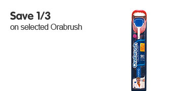Save 1/3 on selected Orabrush