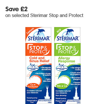 Save £2 on selected Sterimar Stop and Protect