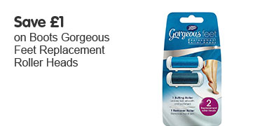 save 1 on Boots Goregeous Feet replacement roller heads