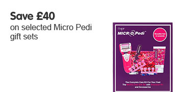 Save 40 pounds on selected Micro Pedi gift sets