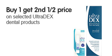 Buy one get second half price on selected UltraDex dental range