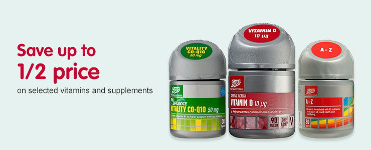 Vitamins and Supplements | Minerals and Vitamins Online - Boots