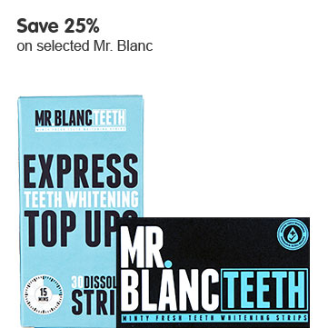 Save 25% on selected Mr Blanc