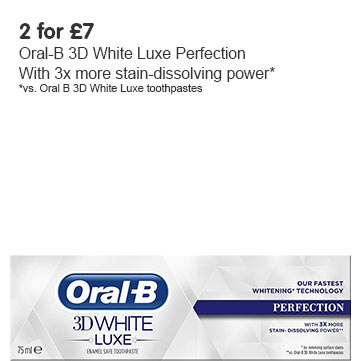 2 for £7 on selected Oral B