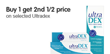 Buy one get second half price on selected UltraDex
