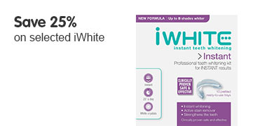 Save 25 percent on selected iWhite