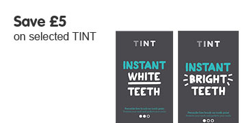 Save £5 on selected TINT whitening toothpastes
