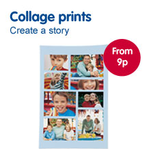 Collage photo prints from Boots Photo
