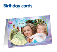 Photo birthday cards from Boots Photo