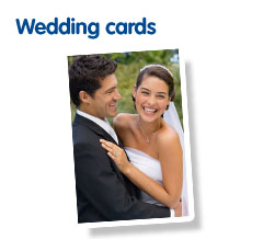 Photo wedding cards from Boots Photo