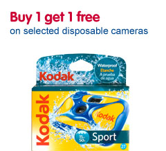 Buy one get one free on selected disposable cameras