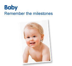 Baby photo albums and photo frames