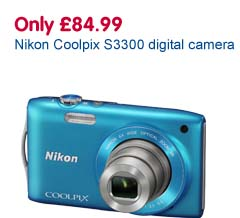 Only £84.99 Nikon Coolpix S3300 digital camera