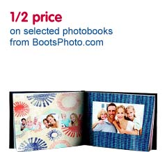 1/2 price on photo books