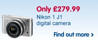 Nikon J1 digital camera only £279.99
