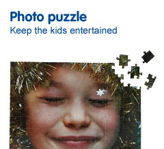 Childrens photo puzzle