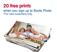 20 free prints when you join Boots Photo