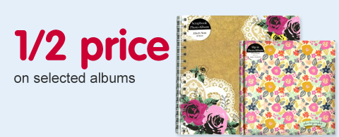 1/2 price on selected albums