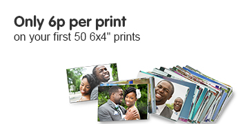 6p per print on your first 50 6x4