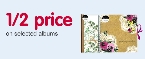 1/ 2 price on selected album